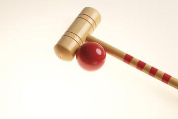 croquet mazza e palla
