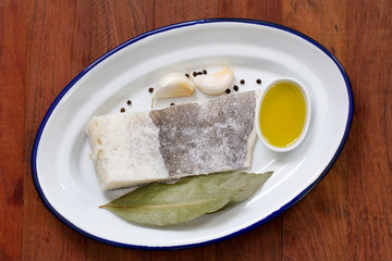 salted codfish with oil