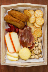 cheese with croquettes and cookies