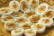 Moroccan traditional boiled eggs with salt and cumin