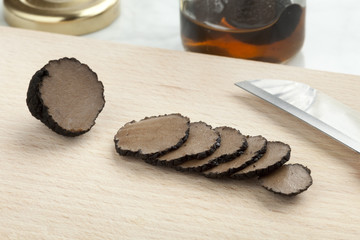 Preserved summer truffle in slices