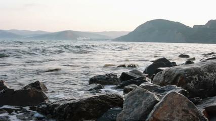 Morning sea shore