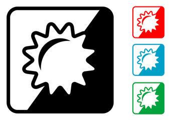 Icono simbolo sol en varios colores