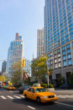 Манхэттен, Нью-Йорк, угол наклона сдвига объектива