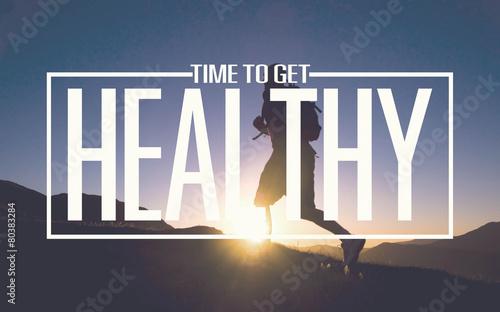 Leinwanddruck Bild Healthy Fit Diet Activity Sport Lifestyle Purpose Concept