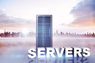 Composite image of servers