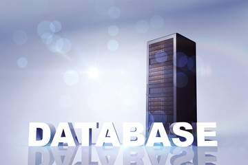 Composite image of database
