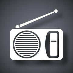 Vector radio icon