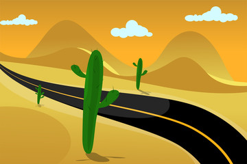 mexican desert road background