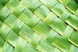 Zigzag interlocking of coconut leaves weave - 80385067