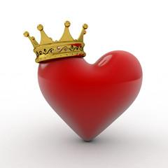Heart wearing a crown
