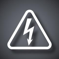 Vector high voltage sign