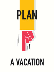 Words PLAN A VACATION