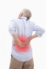 Portrait of a man having a back pain