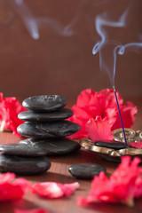 azalea flowers black massage stones incense sticks for aromather
