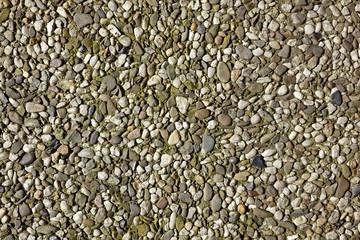Waschbeton mit bunten Kieselsteinen