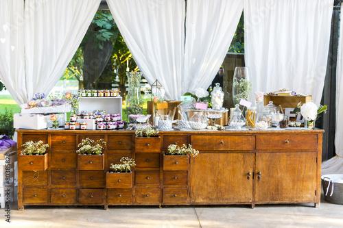 Fotobehang Snoepjes wedding favors