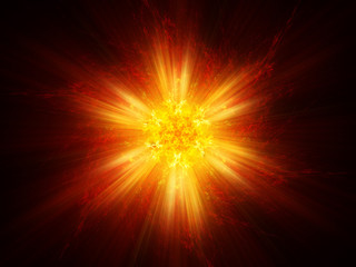 Fiery magical explosion background