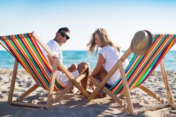 Beach. Couple on a beach