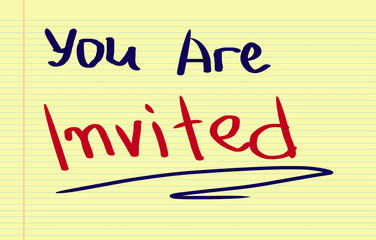 You Are Invited Concept