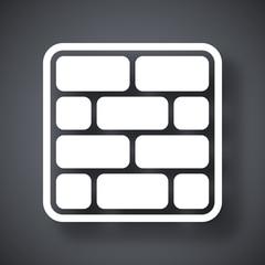 Vector brick wall icon