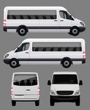 Fototapety White Bus