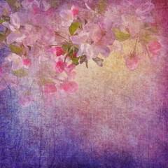 Painting style floral art