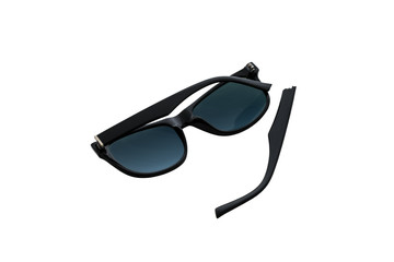 Broken sunglasses is isolated