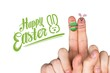 Composite image of fingers as easter bunny