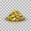 Golden nuggets pile - 80390634