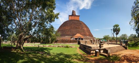 Panorama of Jetavanaramaya Dagoba in UNESCO, Sri Lanka