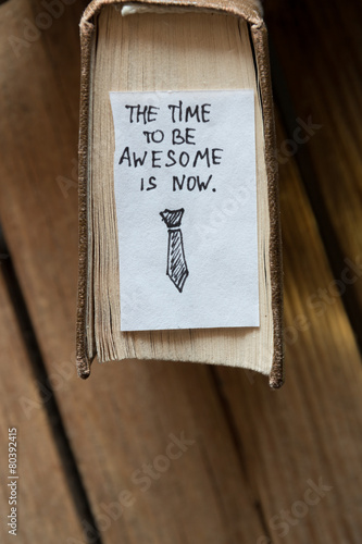 Poster the time to be awesome is now