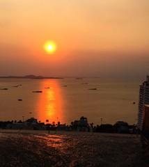 Pattaya city,sunset view on top.