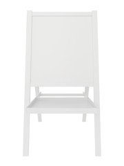 Blank sandwich board. 3d rendering on white background