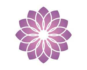 spa flower logo