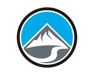 mountain in circle