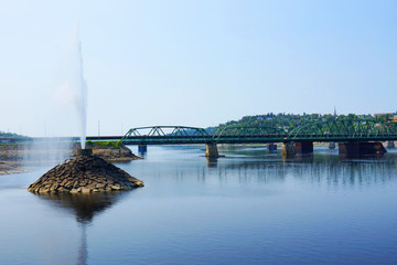 Fountain by the bridge