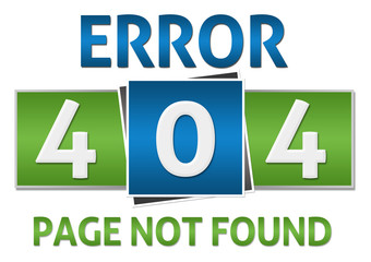 Page Not Found Green Blue Square