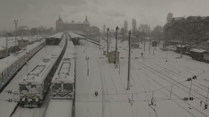 Haydarpaşa Tren Garı Kar Altında