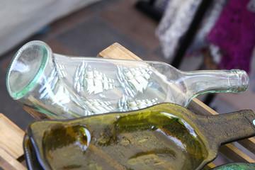 glass bottles ashtry