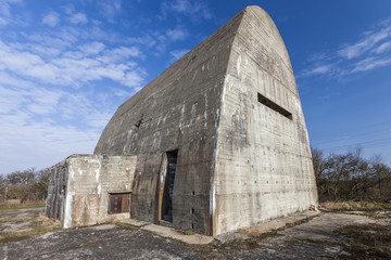 Old, forgotten bunker from WWII