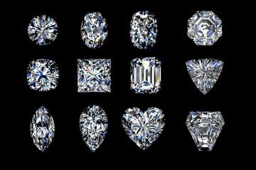 Diamond shapes on black.