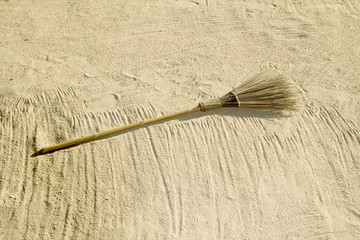 broom for cleaning the beach