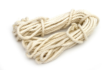 rope on the white background