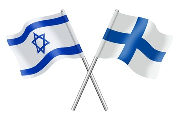 Flags: Israel and Finland