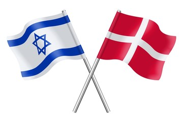 Flags: Israel and Denmark