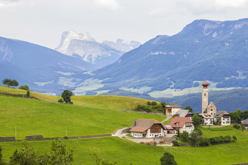 Alpine village on a plateau Rennon