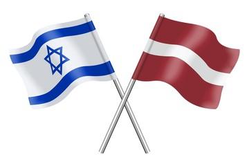 Flags: Israel and Latvia