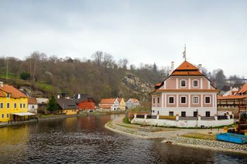 Чехия. Чешский Крумлов. Река Влтава