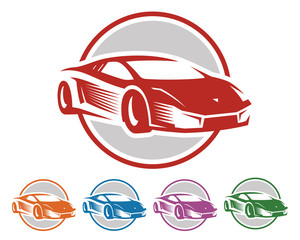 Car Logo - Sport Car - Car Vector - race logo - circle